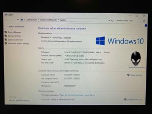 Alienware R3 Windows 10